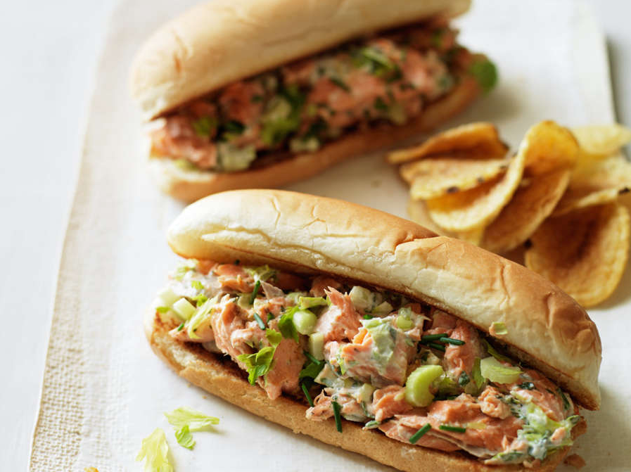 4. Lobster-Roll-Style Salmon Sandwiches