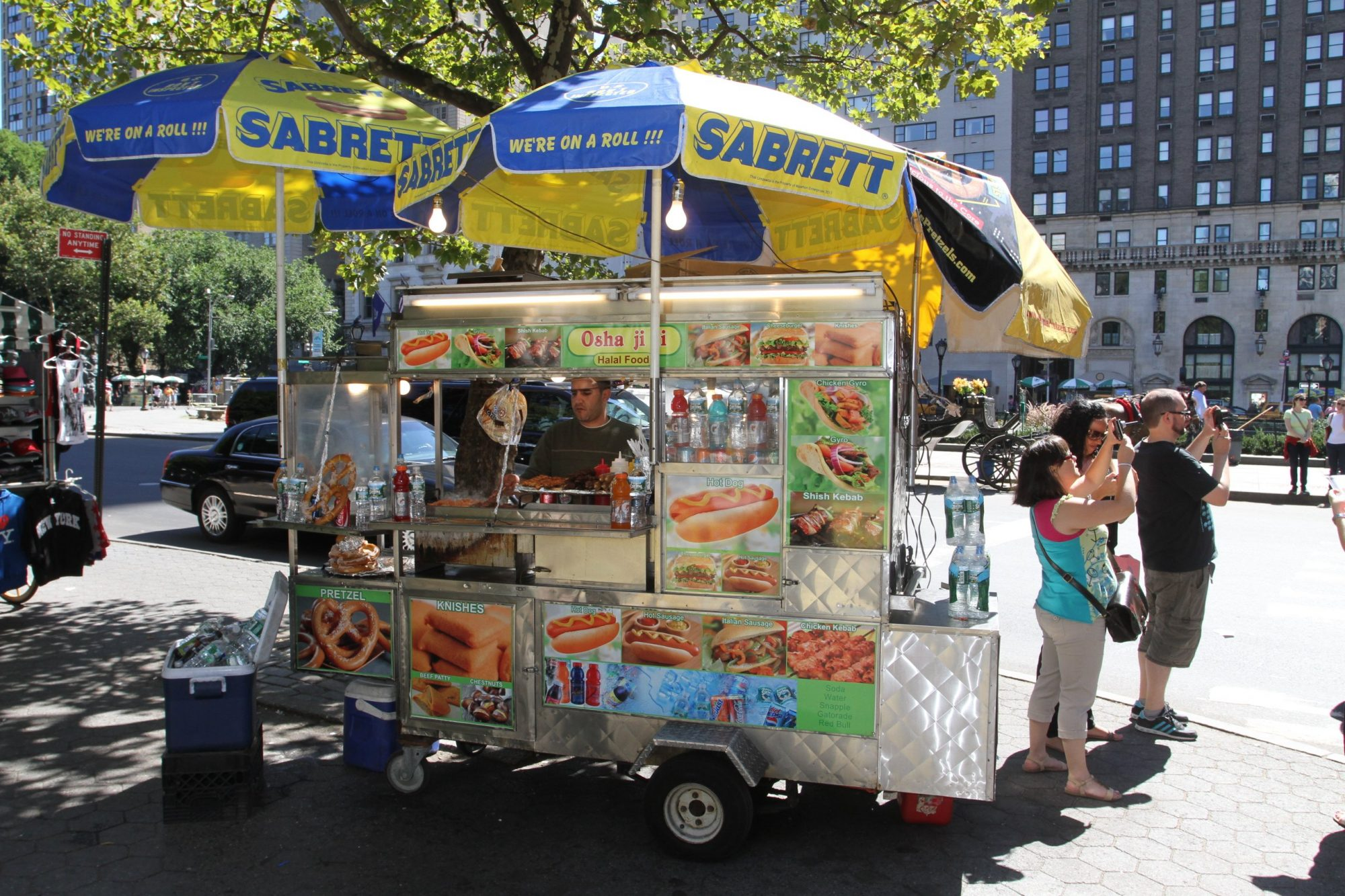 A Street Vendor On Fifth Avenue