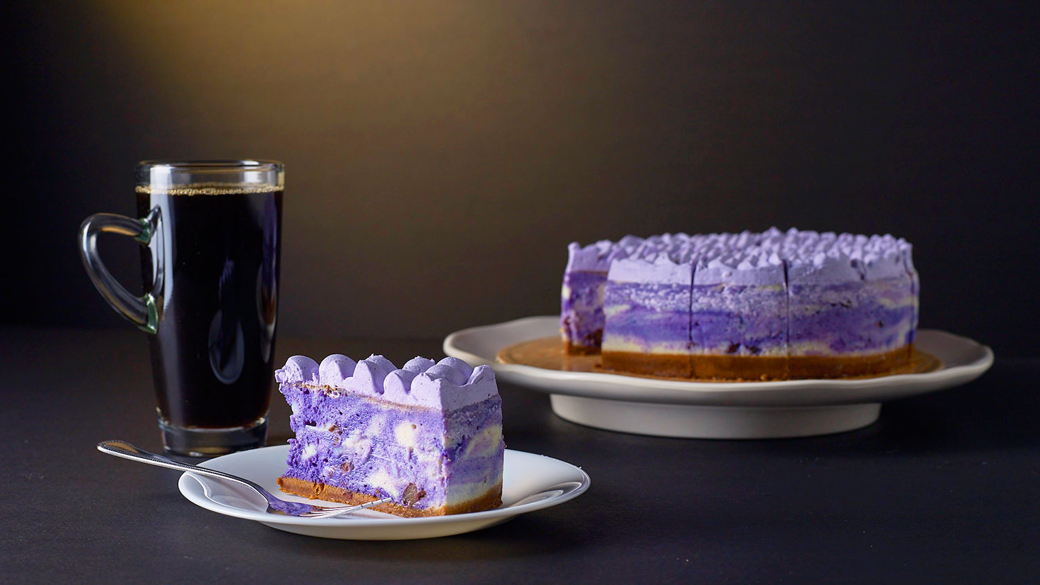 purple yam cheesecake