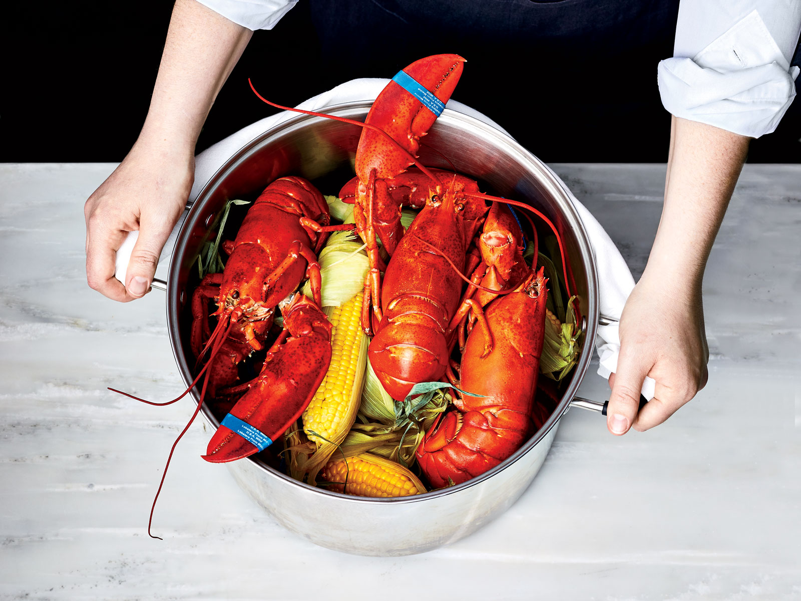 Steamed Lobster and Corn for a Crowd