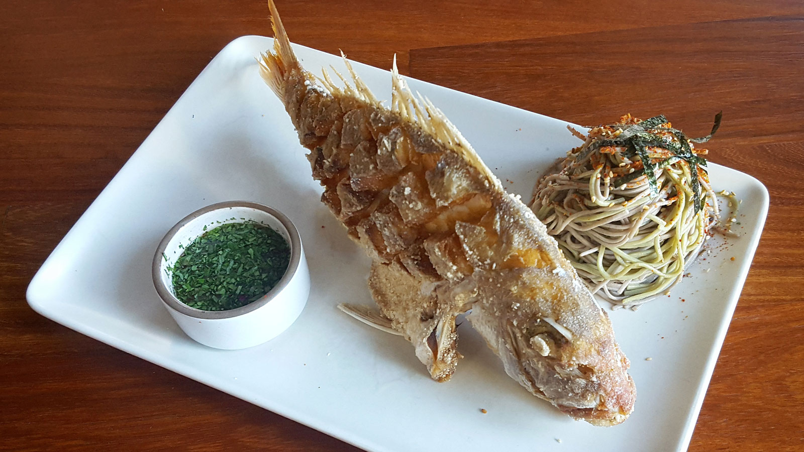 Whole Fried Snapper fro Tar & Roses