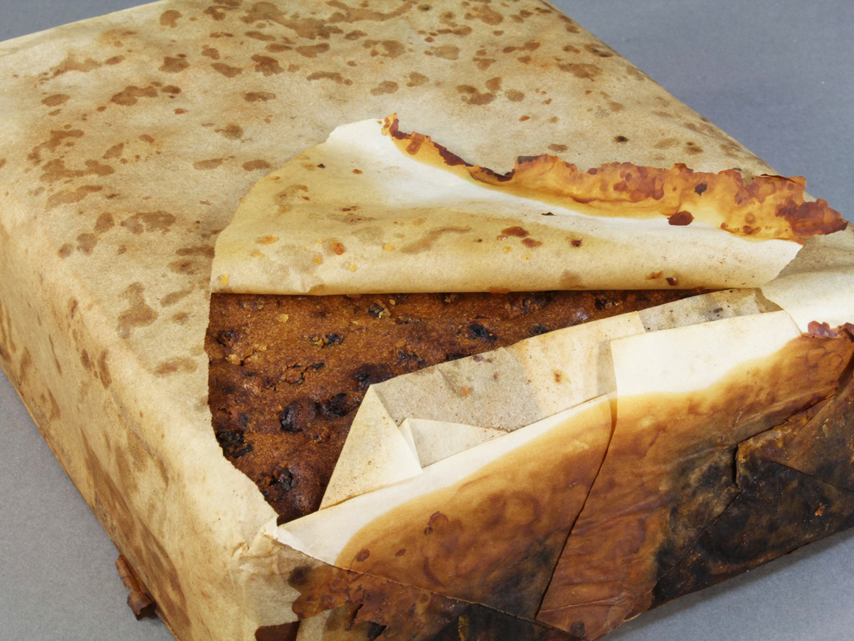 100 year old fruitcake found
