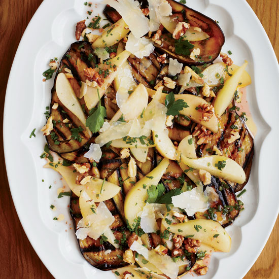 Eggplant, Pear, and Pecorino Salad