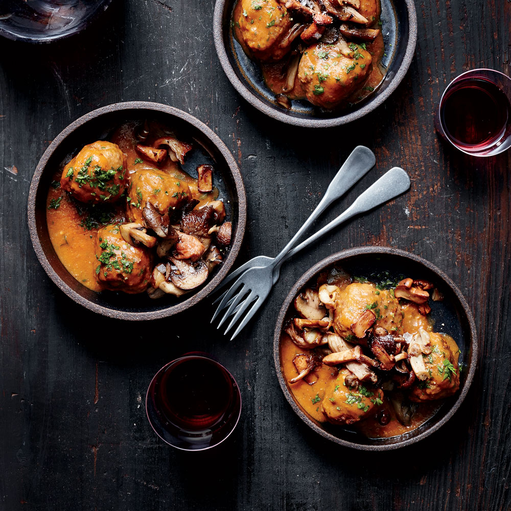 Albondigas with Mushrooms