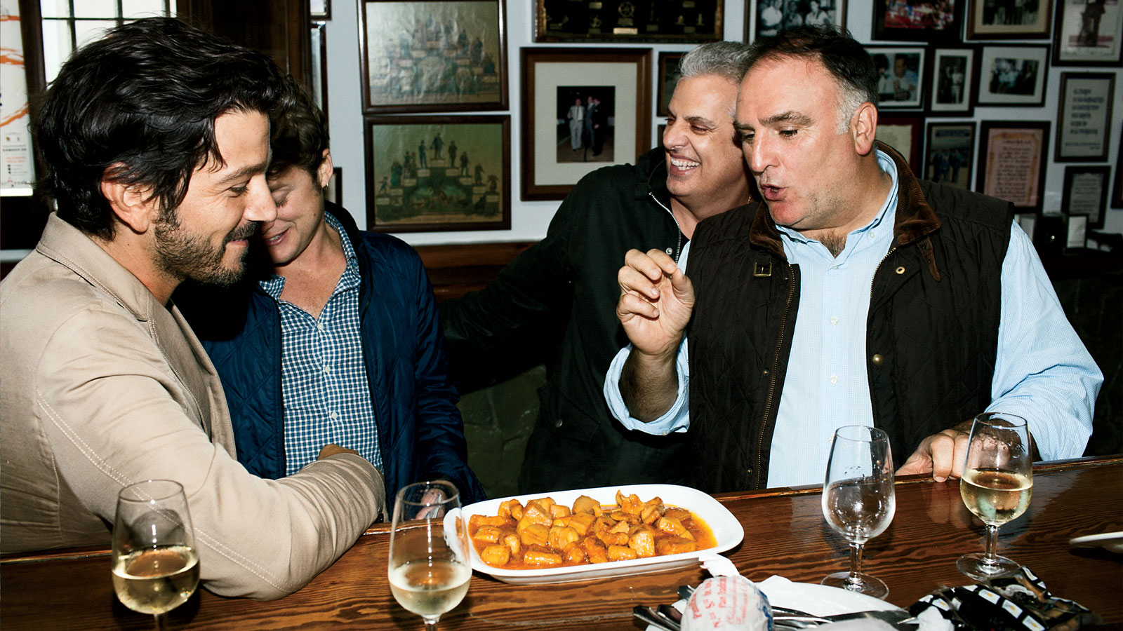 Jose Andres, Eric Ripert, and Diego Luna