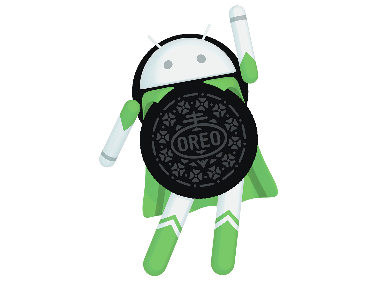 oreo cookies with android robot
