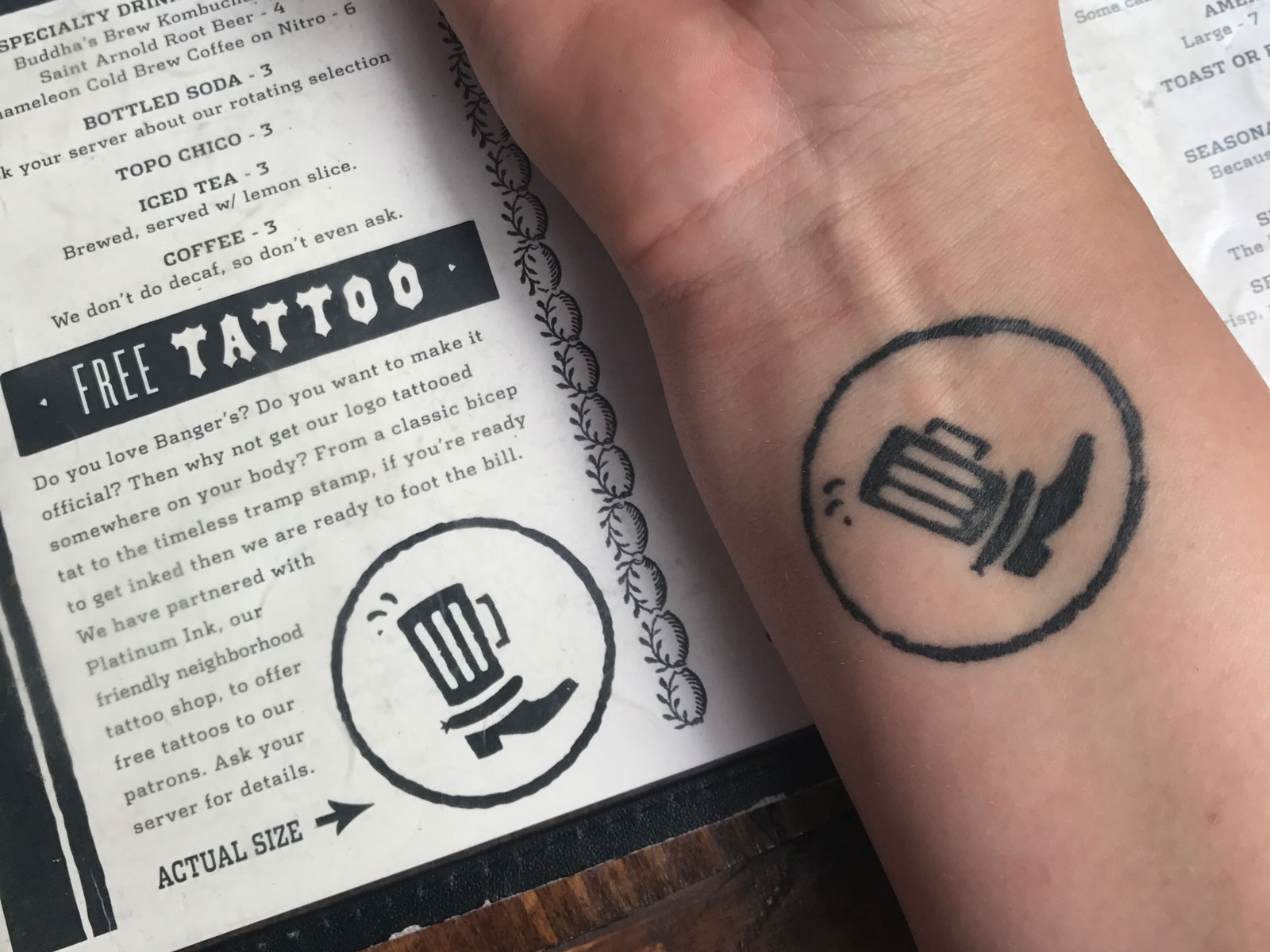 1372c8ca7 Thousands of People Have This Restaurant Logo Tattooed on Their Bodies |  Food & Wine
