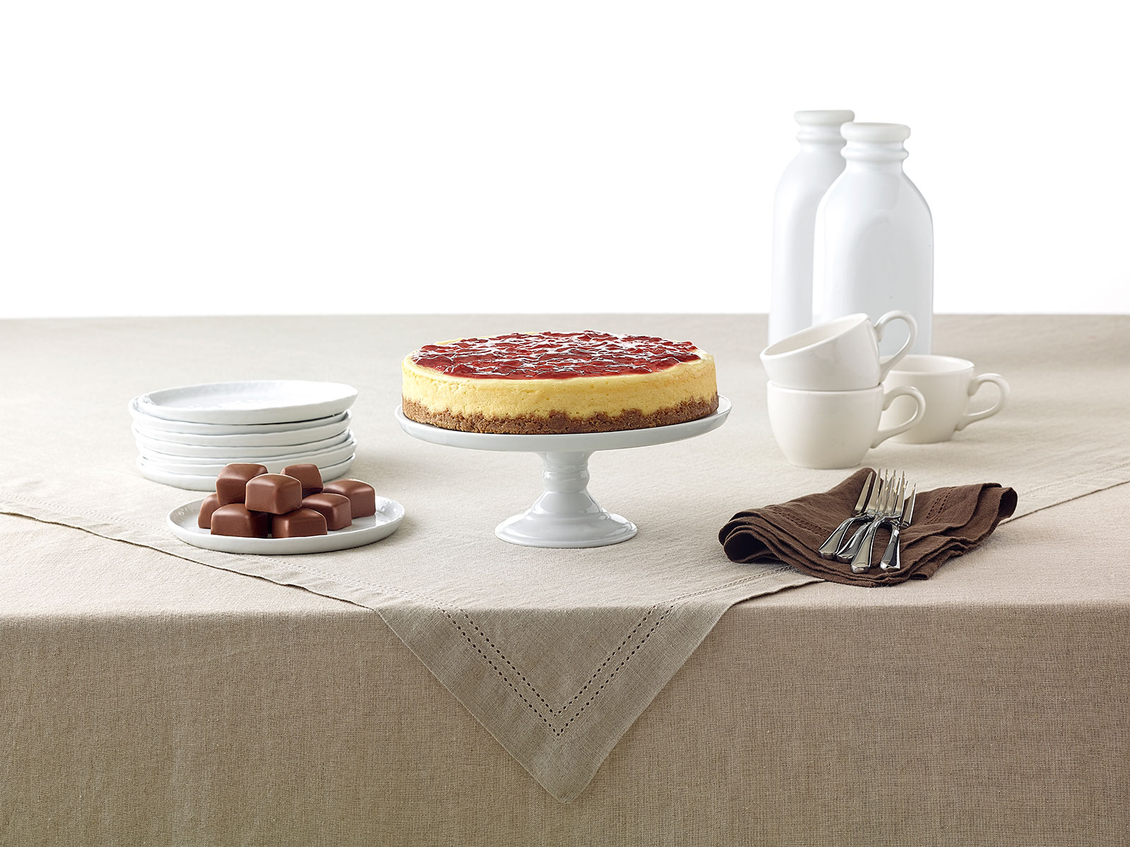 lifestyle shot of cheesecake factory at home