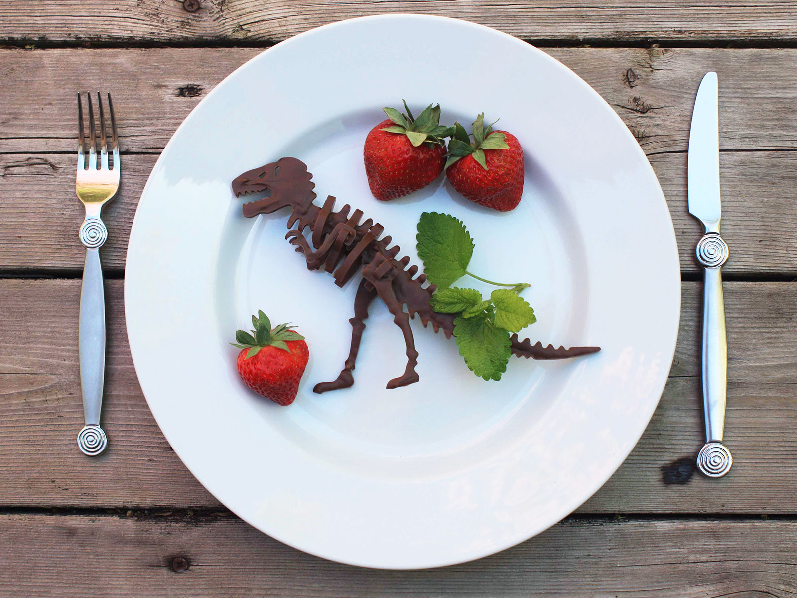 chocolate dinosaur built