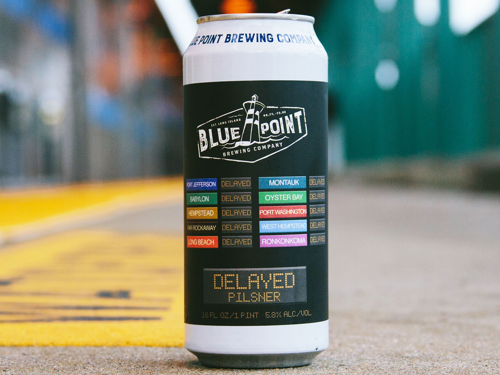 delayed pilsner inspired by LIRR
