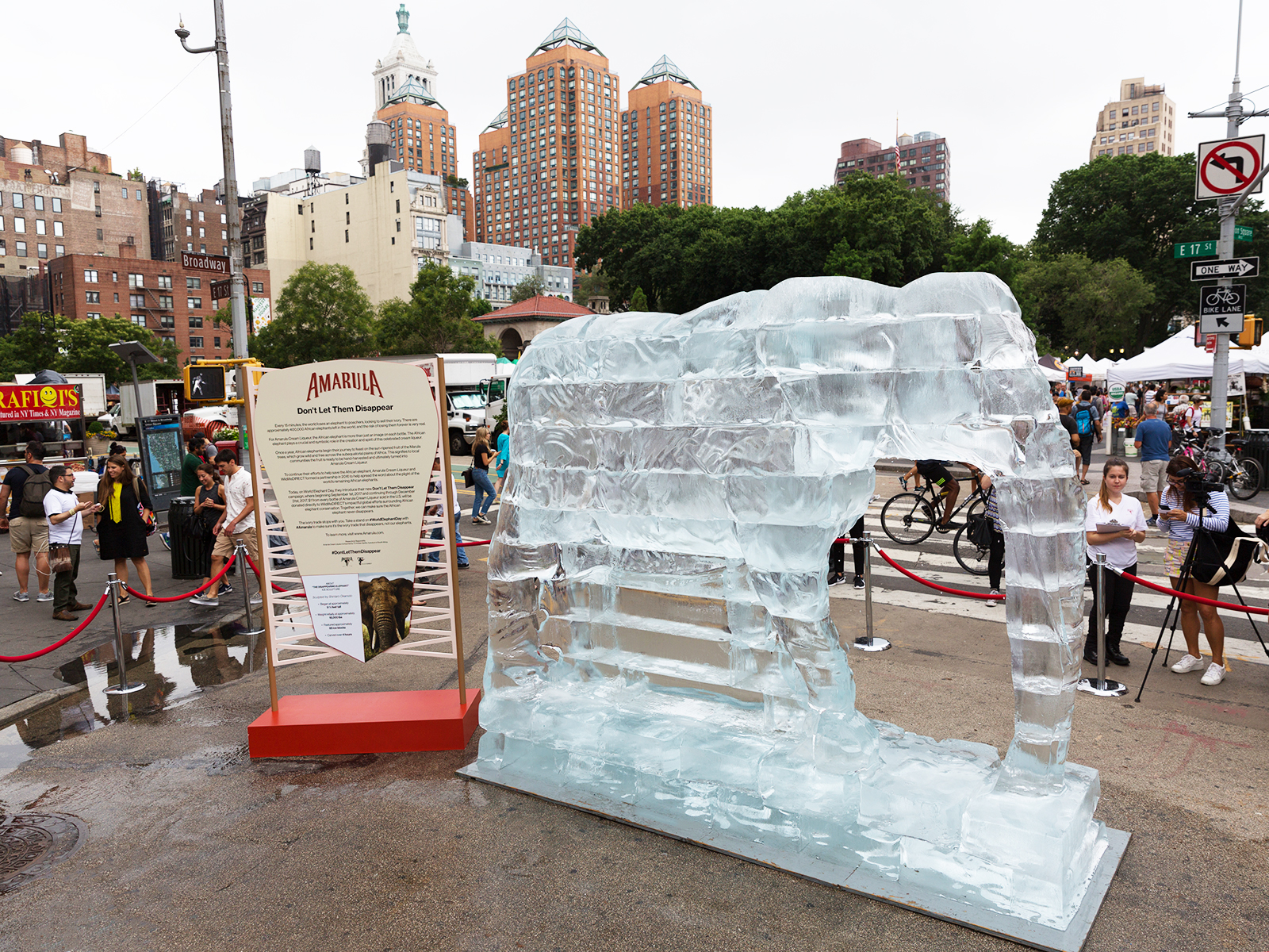 amarula ice sculpture in NYC
