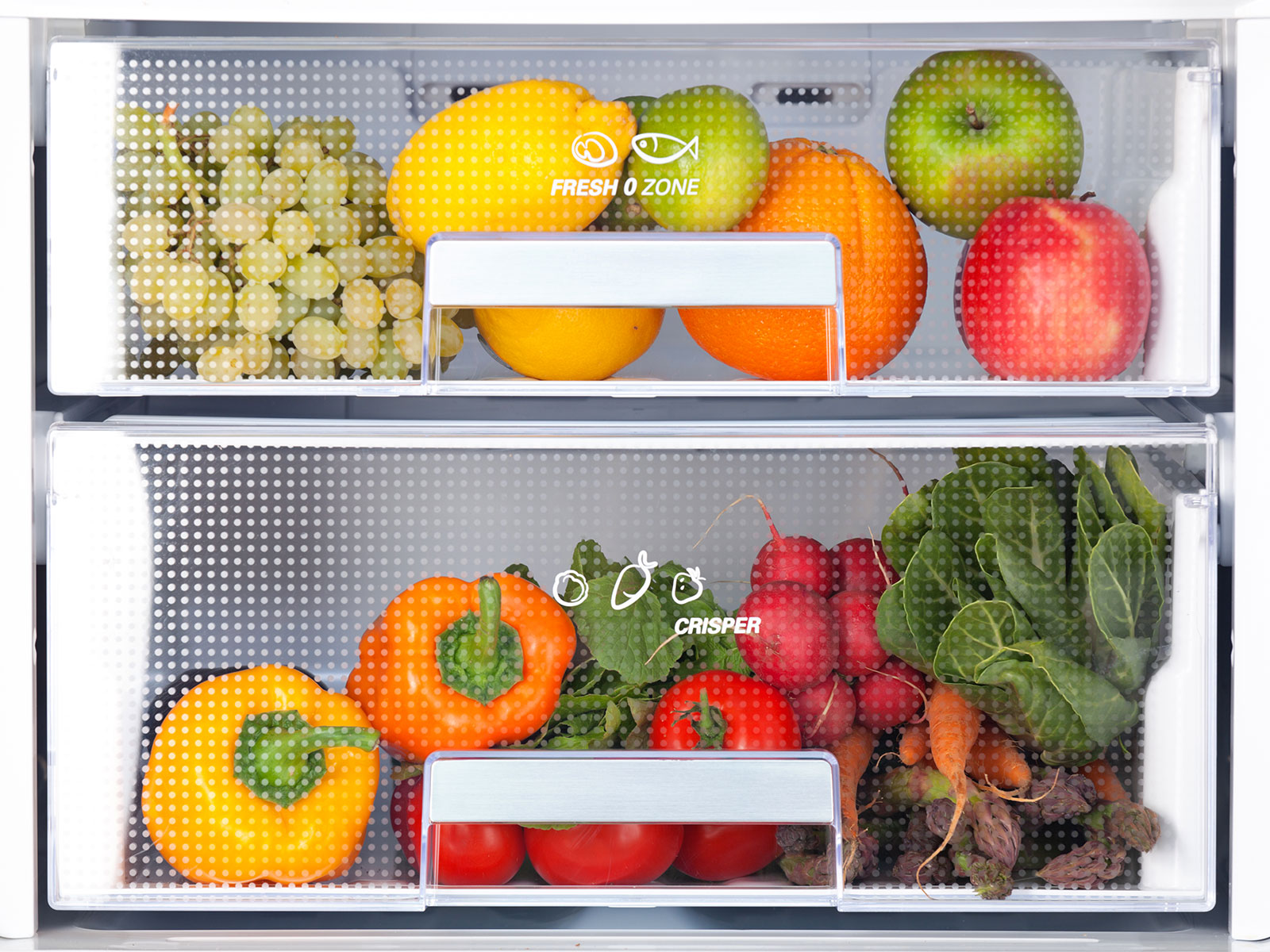 fridge with fruit
