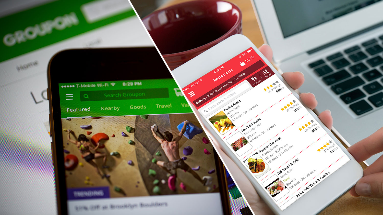 Groupon Teams Up With Grubhub For Food Delivery Food Amp Wine