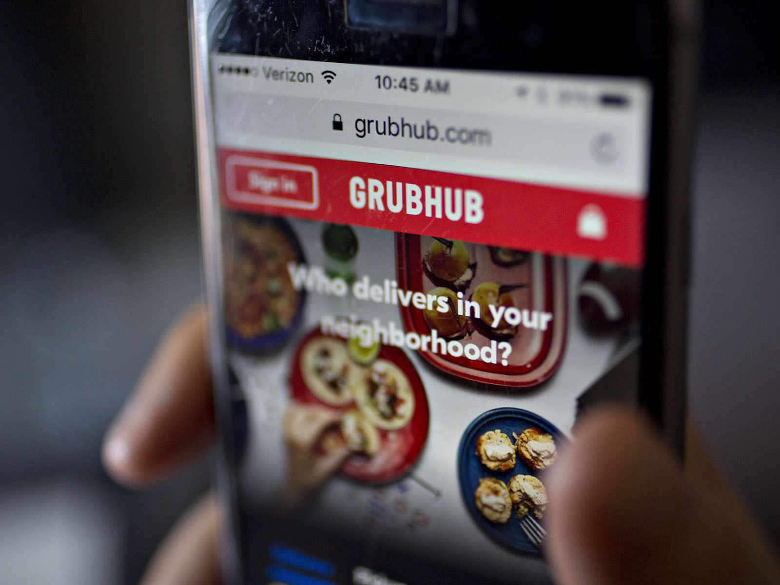 Grubhub stadium delivery