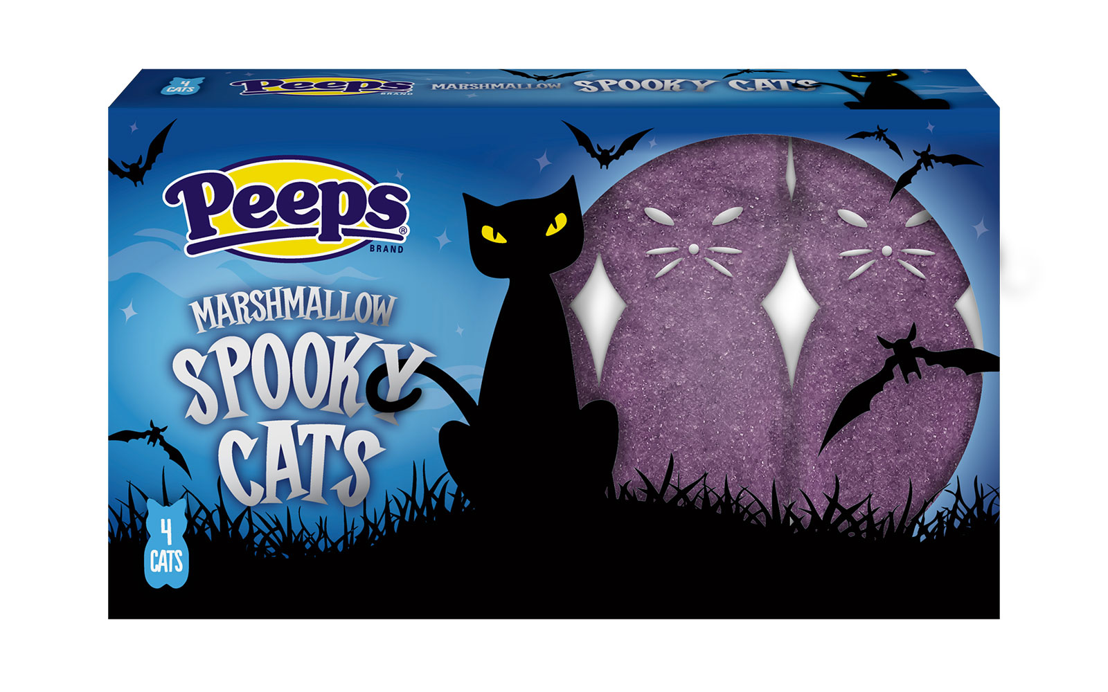 spooky cats purple peeps