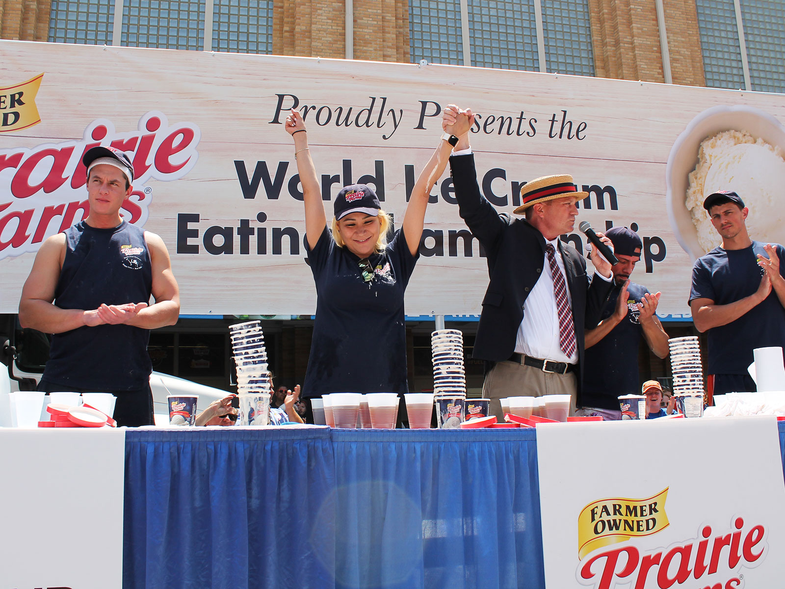 indiana state fair ice cream eating contest