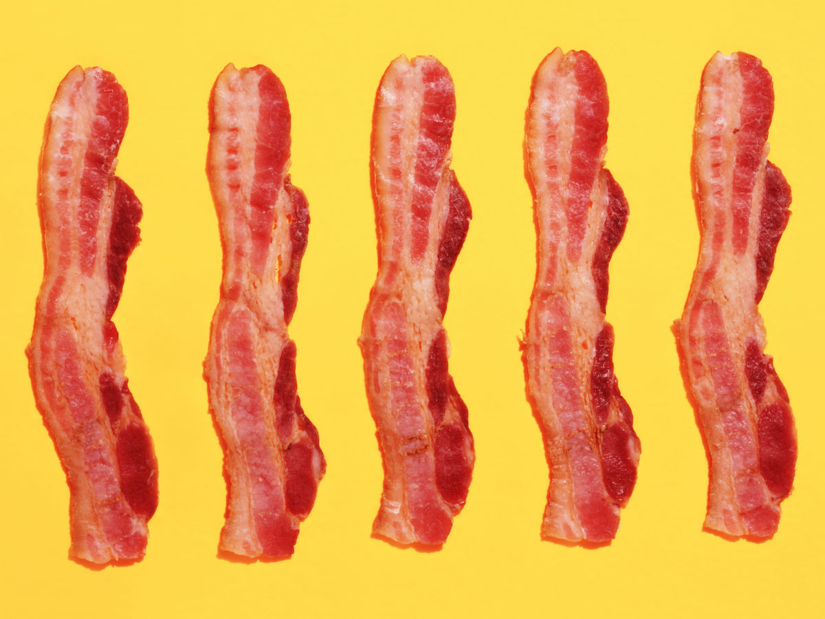 mass produced bacon 3000 years ago