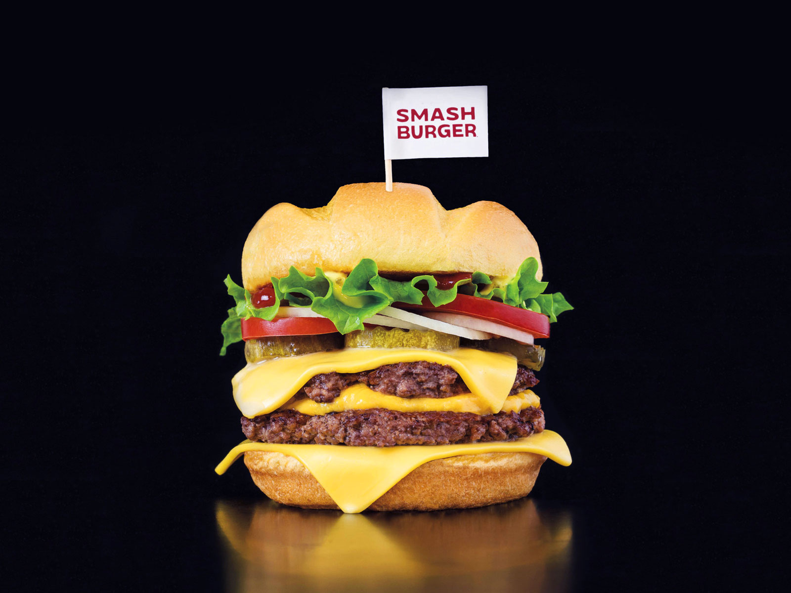 smashburger triple double burger