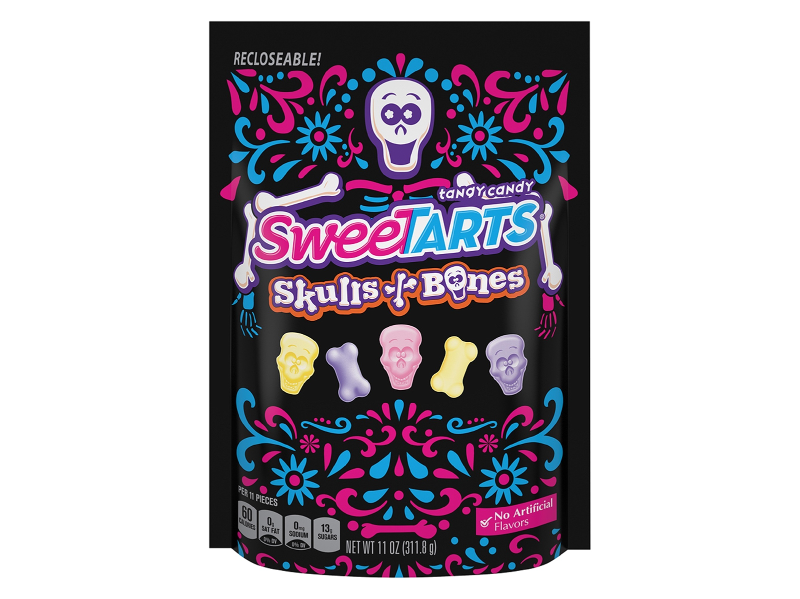skeleton and skills sweet tart candies