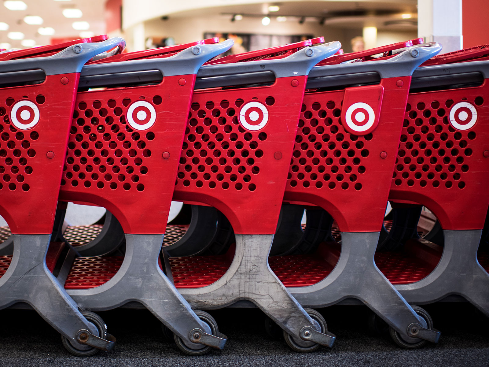 shopping carts in target
