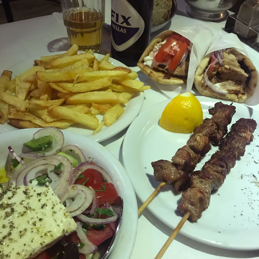 Dinner in Greece