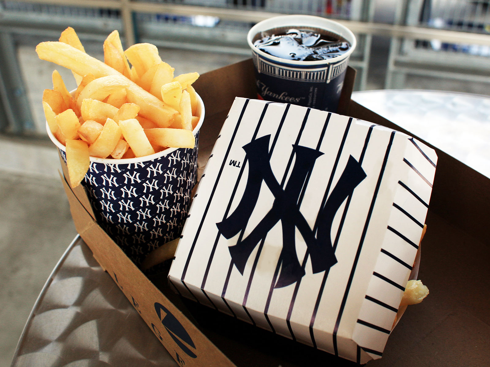 yankee stadium food server