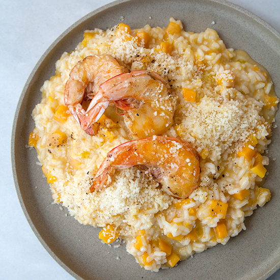 Butternut Squash Risotto with Grits