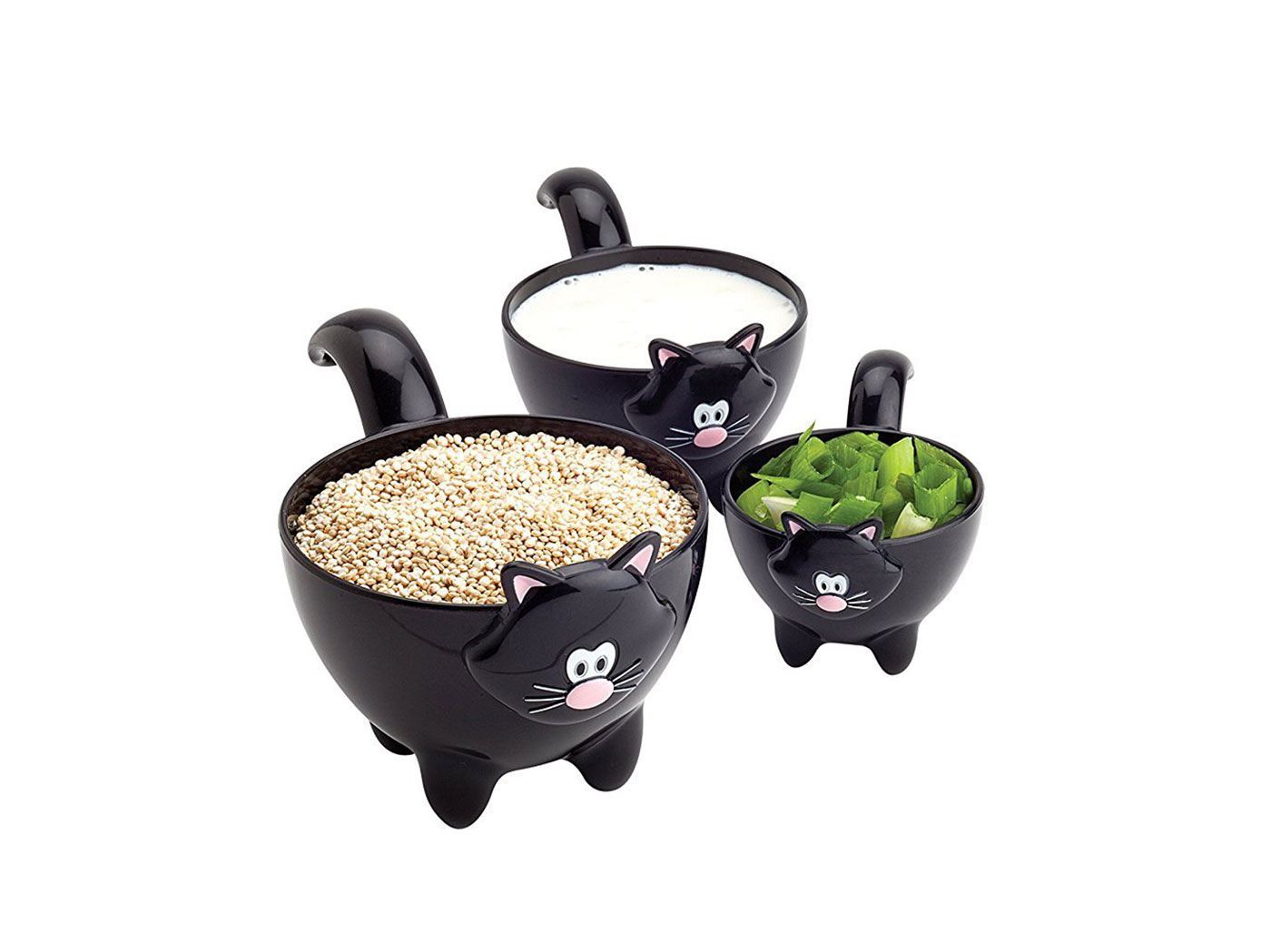 black cat measuring cups