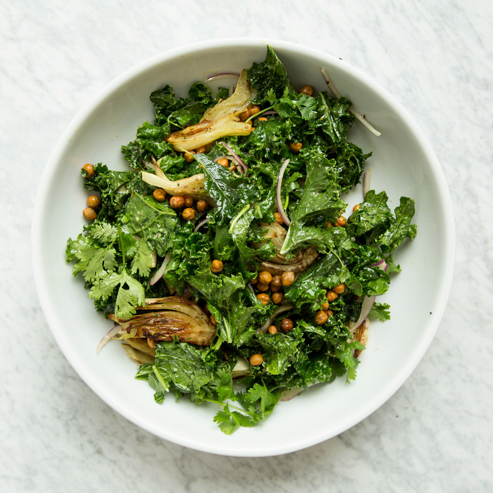 Chile-Kale Salad with Fennel