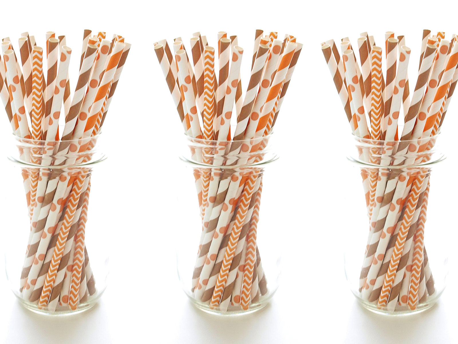 orange straws for fall