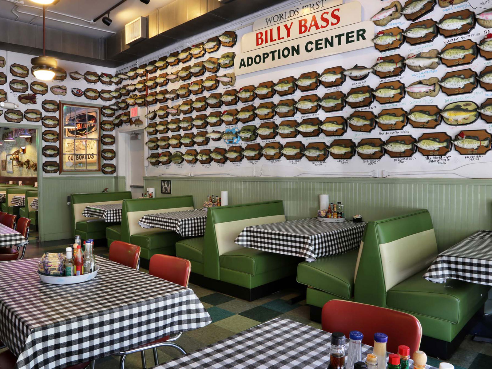 Over a Decade's Worth of 'Billy Bass' Singing Fish Hang on This Restaurant's Wall