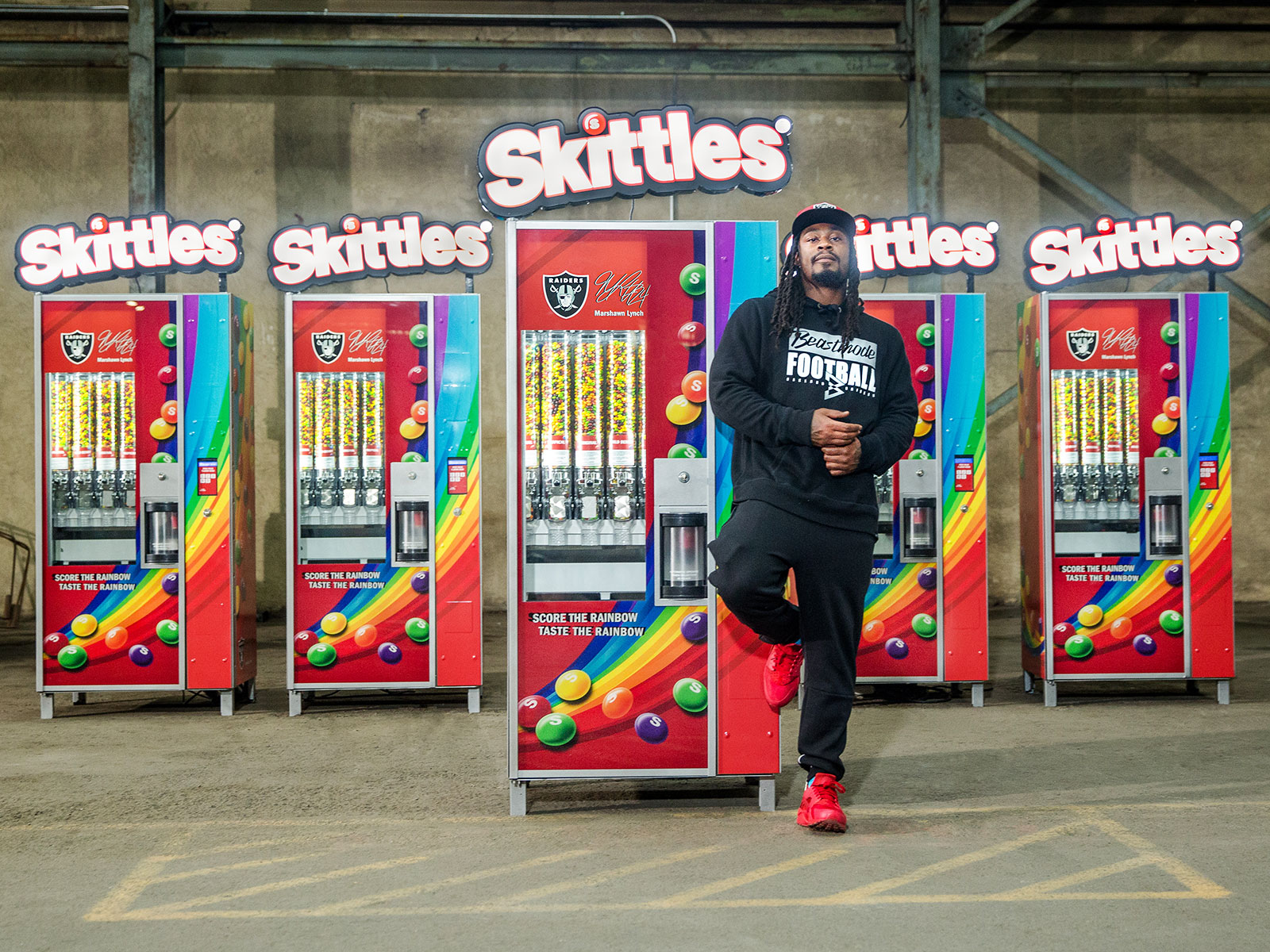 skittles vending machine