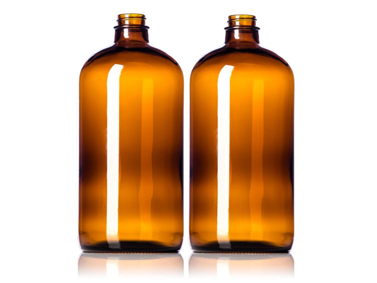 brass colored 32 ounce bottles