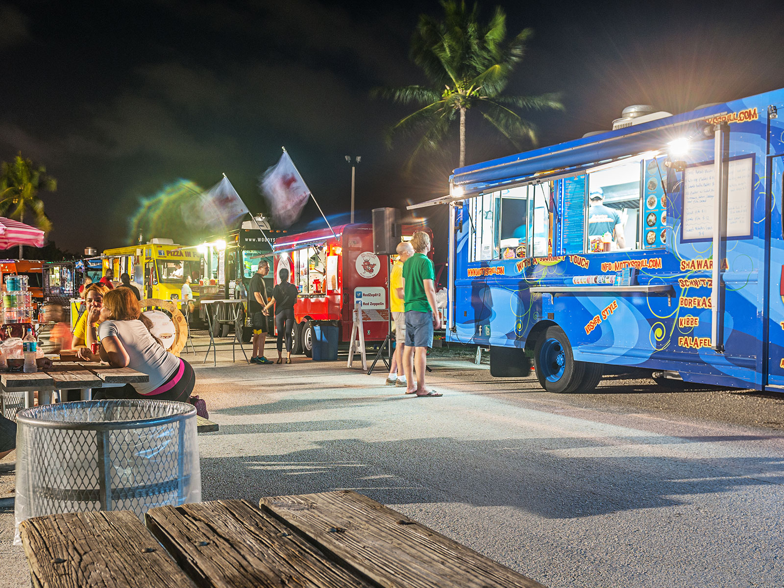 food truck for victims of hurricane irma