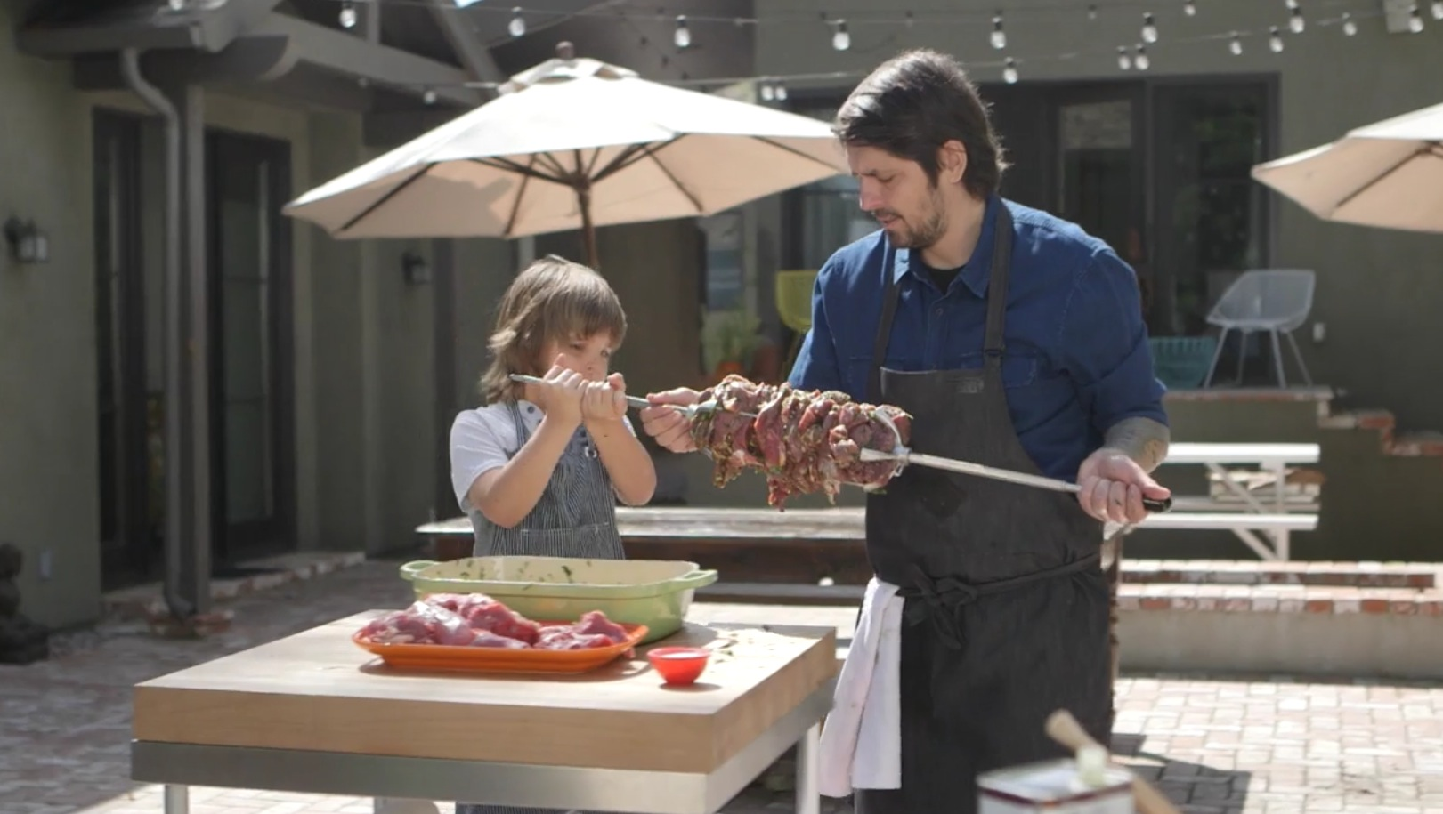 Finally Use the Rotisserie Feature on Your Grill With These Lamb Kebabs  [Video]