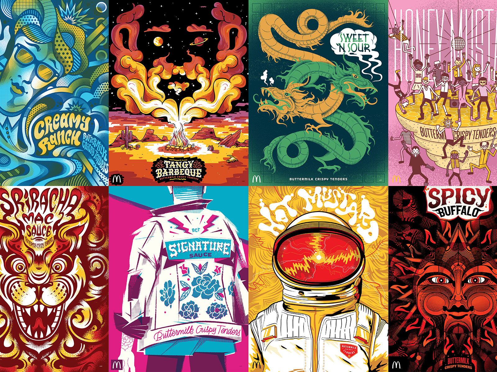 McDonald's Honors Its Famous Sauces With Frame-Worthy Posters