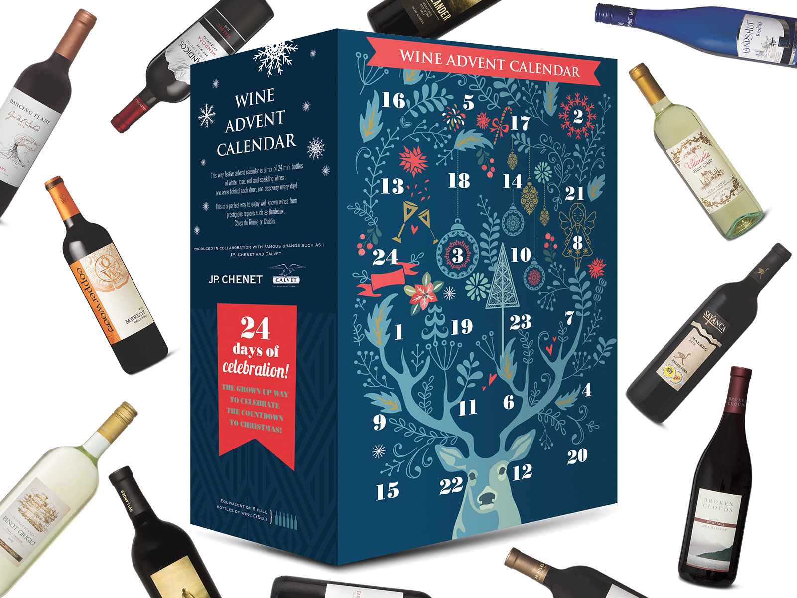 Aldi's Wine Advent Calendar Contains 6 Bottles Worth of Wine