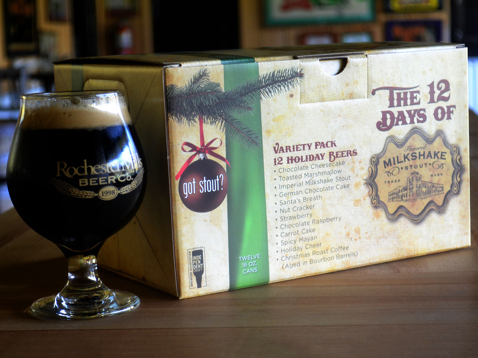 Get Your Milkshake Stout In A Holiday 12-Pack. Yes, We