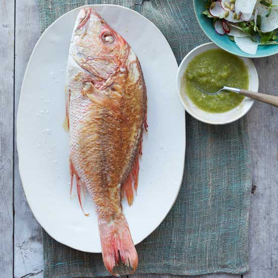 Snapper in Chile-Lime Sauce (Pescado en Chile-Limón)