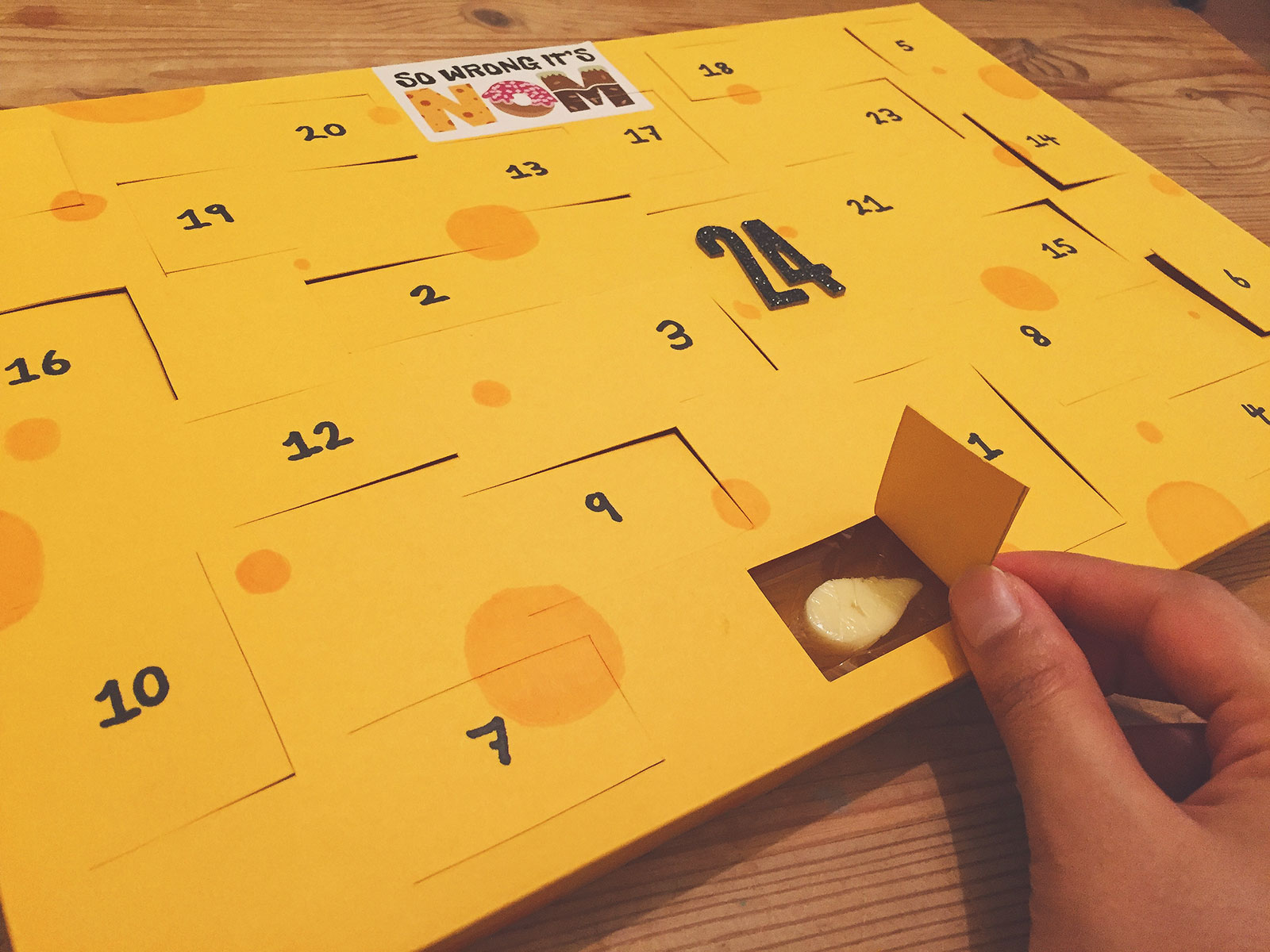 diy cheese advent calendar