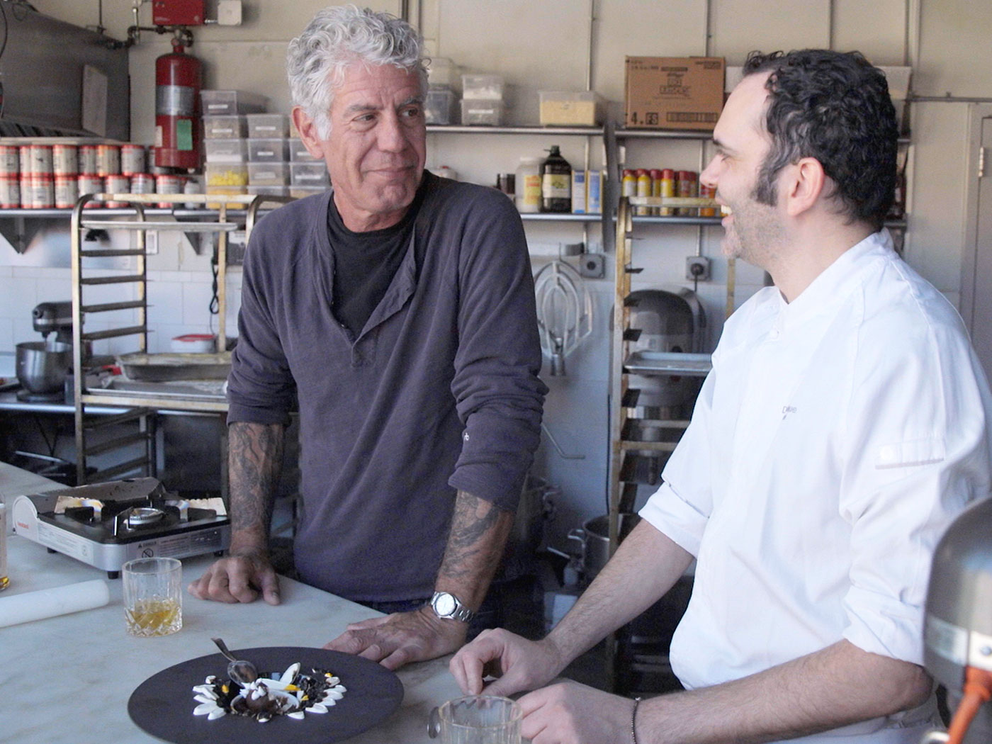 Exclusive: Watch Anthony Bourdain Learn How to Make Pastry From Dominique Ansel