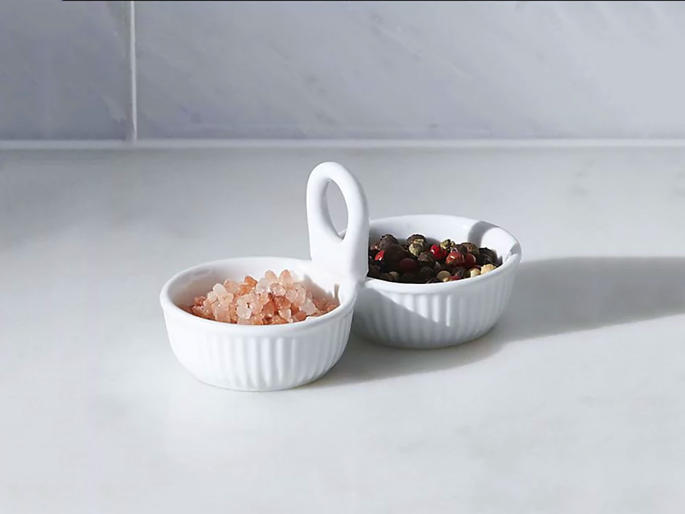 crate and barrel double mini ramekin