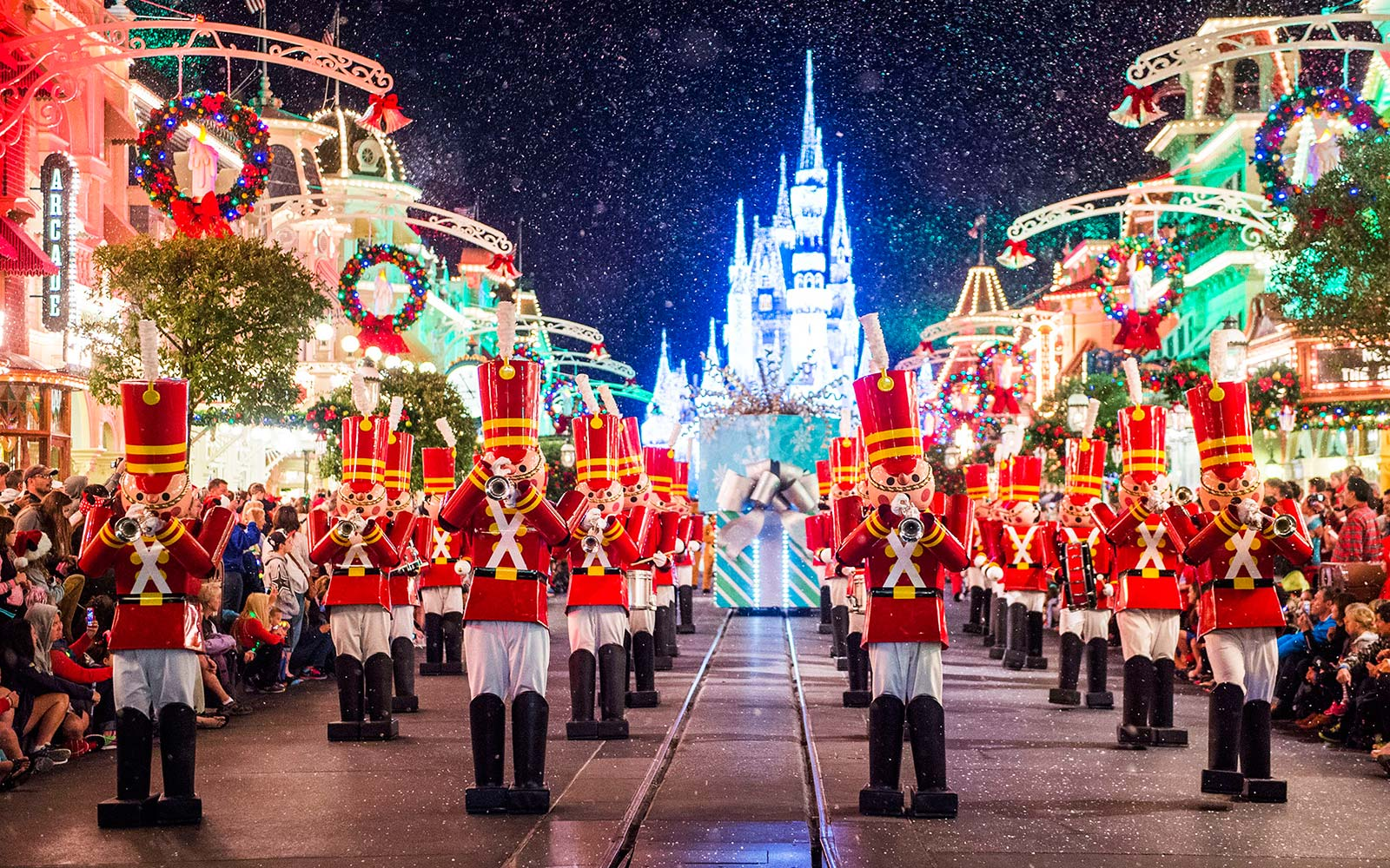 Disney World Christmas Mickey Parade Orlando Florida