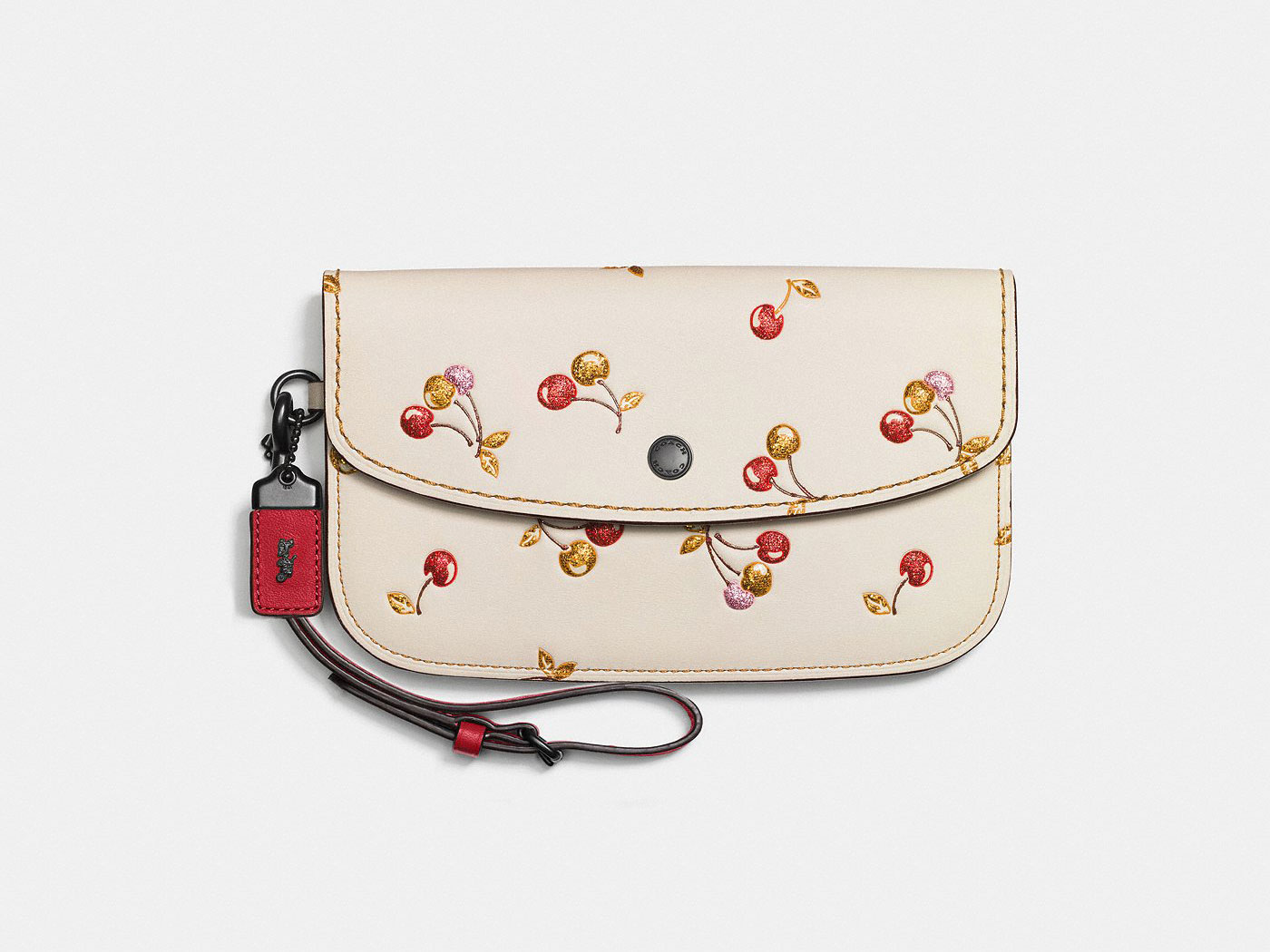 cherry clutch leather