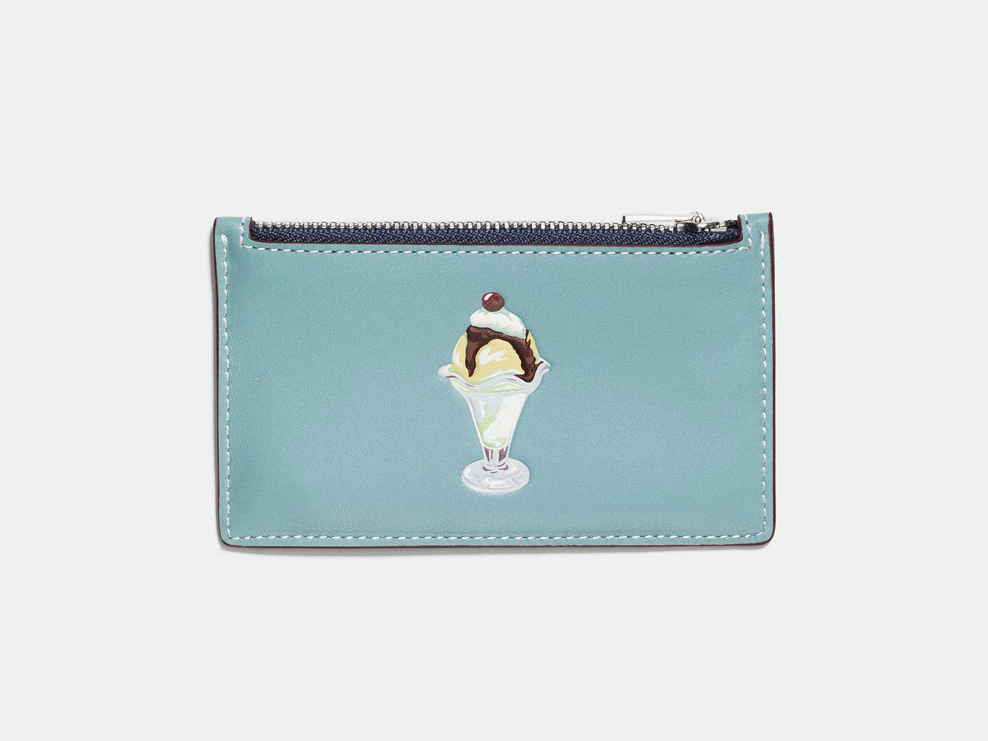mini zip wallet from coach with ice cream