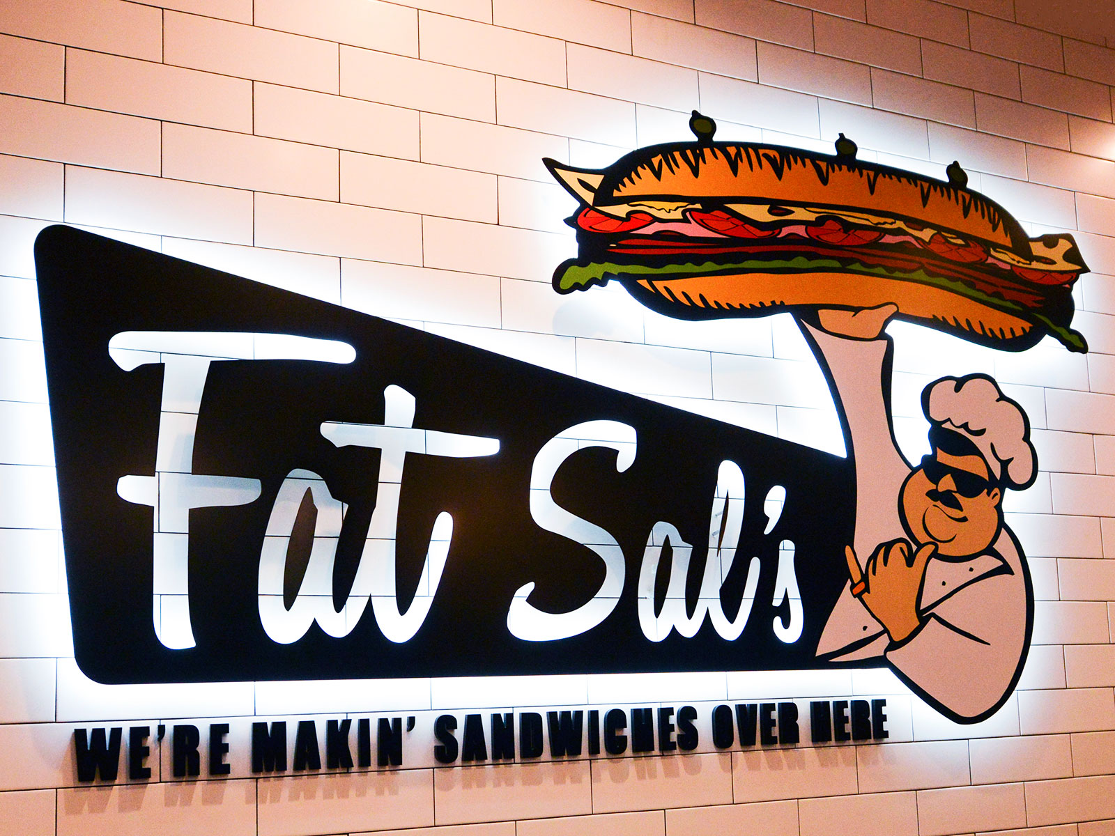 fat sal's interior sign light up