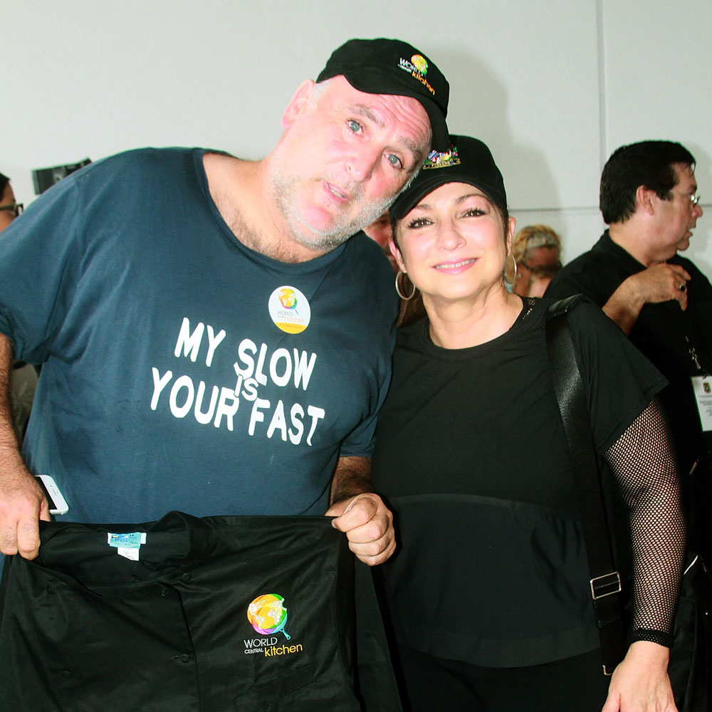 Gloria Estefan and Jose Andres
