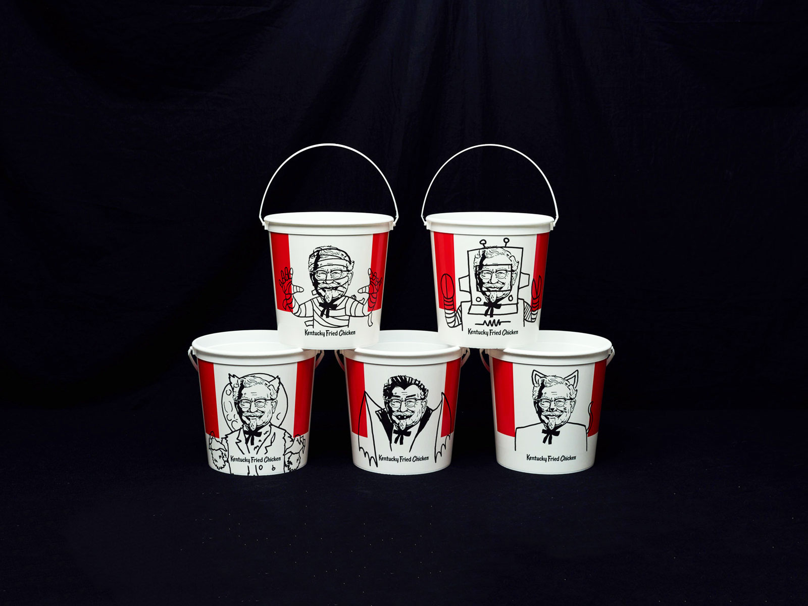 kfc trick or treat buckets