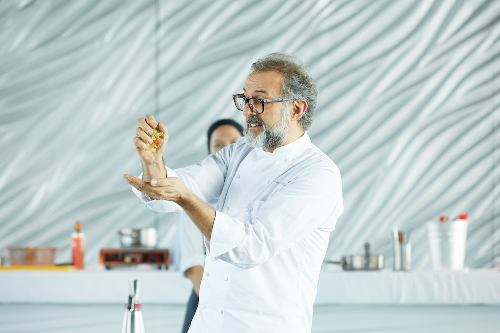 massimo bottura at the peninsula hong kong
