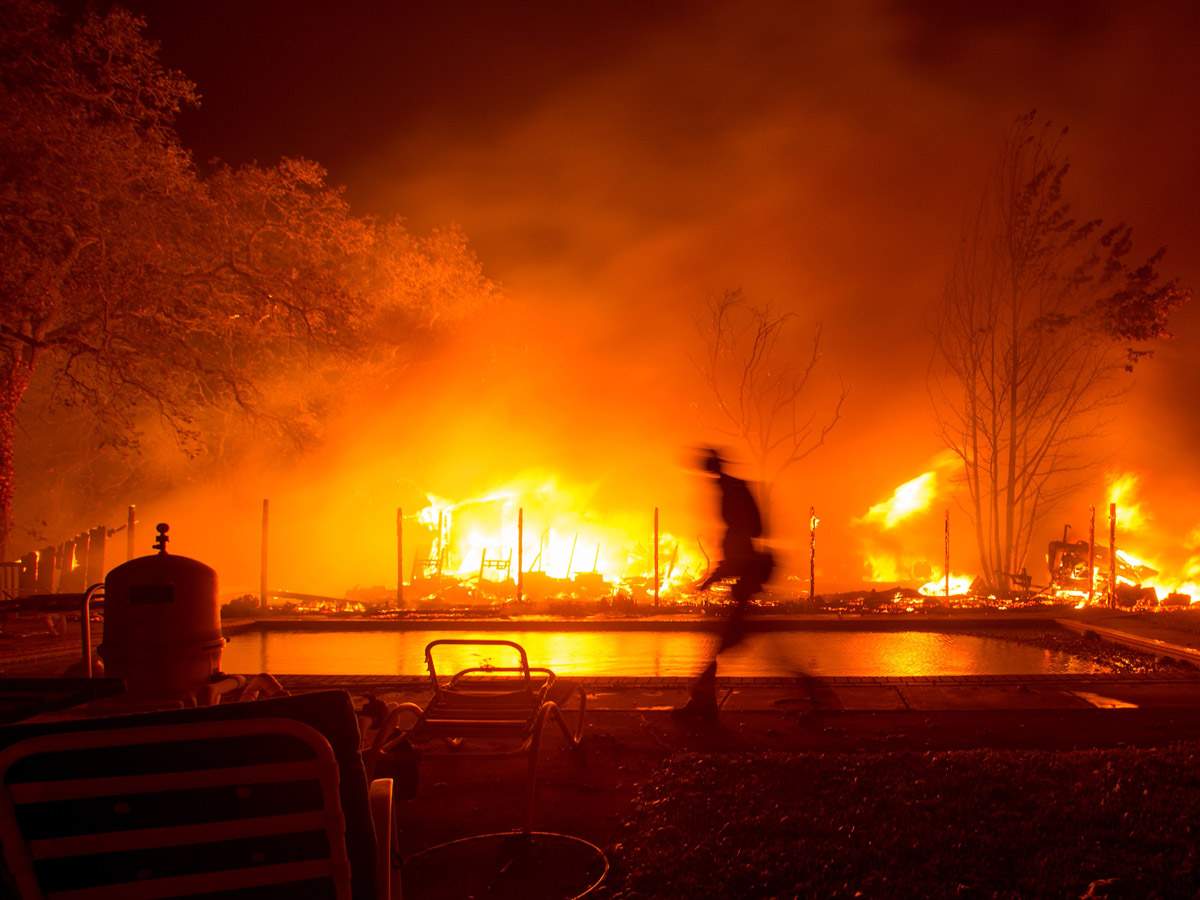 Napa and Sonoma County Fires Still Burning Homes and Wineries